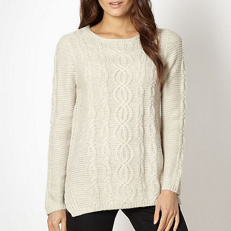The Collection - Natural cable knitted jumper