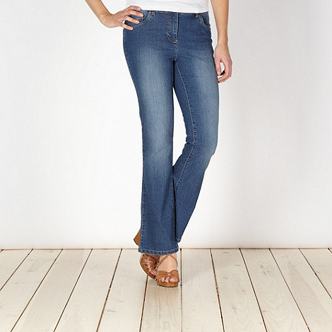 The Collection - Blue stretch bootcut jeans