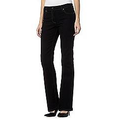The Collection Petite - Black bootcut jeans
