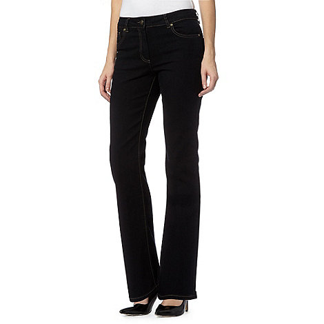 The Collection - Black soft stretch bootcut jeans