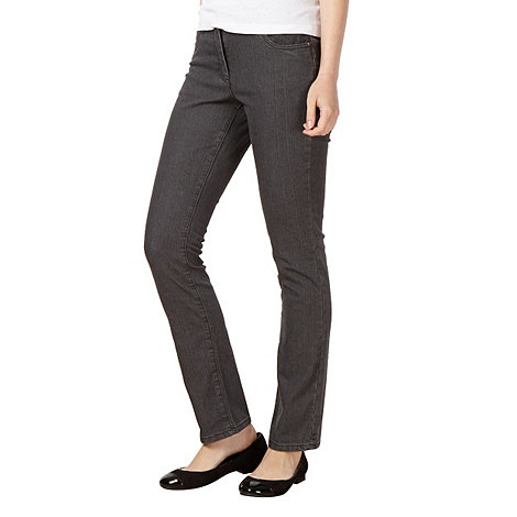 The Collection - Grey textured slim fit jeans