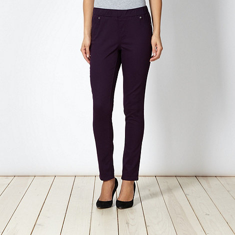 The Collection - Dark purple twill jeggings