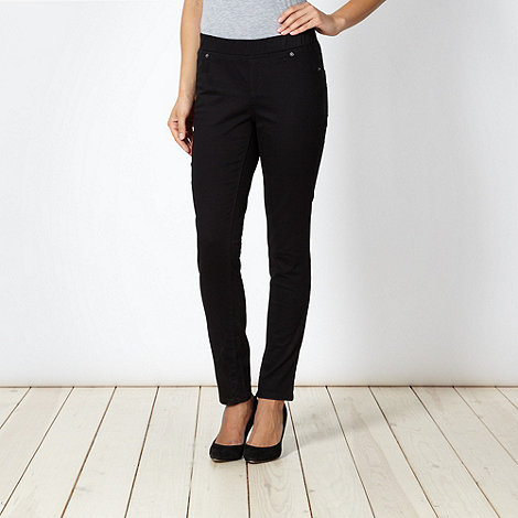 The Collection - Black twill jeggings