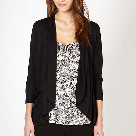 The Collection - Black 2 in 1 leaf pattern top