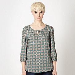 The Collection - Turquoise tile patterned top