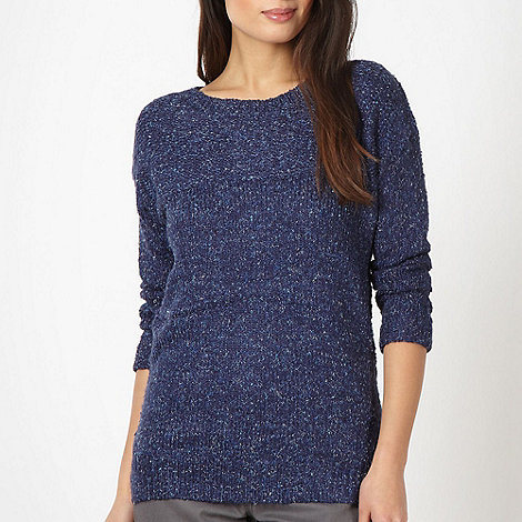 The Collection - Navy knitted space dye jumper