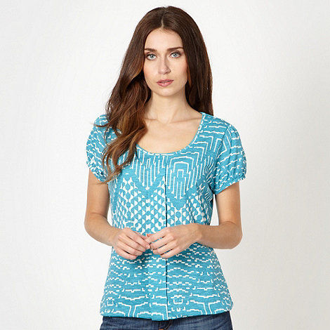 The Collection - Bright blue graphic zig zag print t-shirt