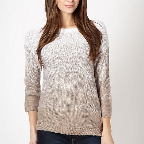 The Collection - Fawn ombre knit jumper