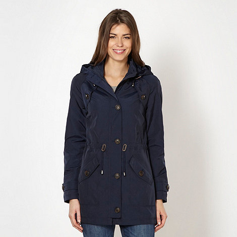 The Collection - Navy waterproof hooded parka