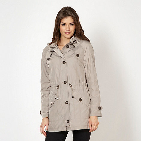 The Collection - Fawn hooded drawstring parka