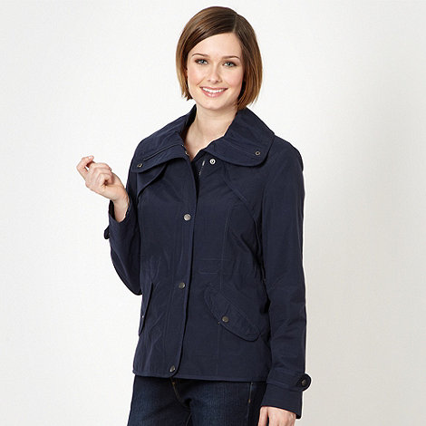 The Collection - Navy fly collar parka jacket