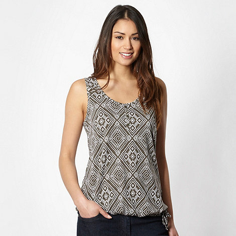 The Collection - Khaki tribal bubble hem vest