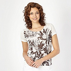 The Collection - Chocolate floral knitted top
