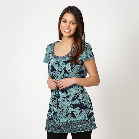 The Collection - Green paisley floral tunic top