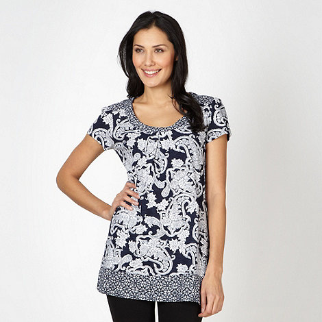 The Collection - Navy paisley printed tunic
