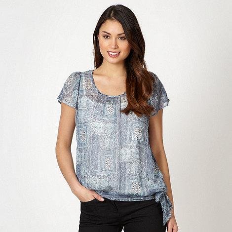The Collection - Blue tiled sequin top