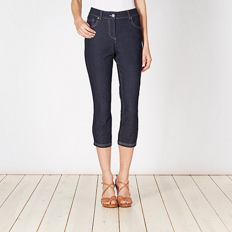 The Collection - Dark blue denim cropped jeans
