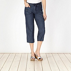 The Collection - Navy chambray cropped trousers