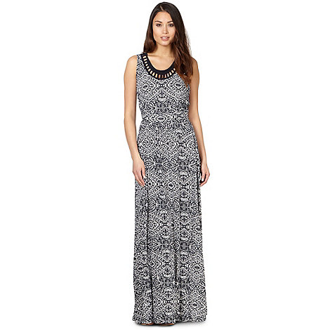 The Collection - Navy aztec jersey maxi dress