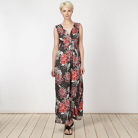 The Collection - Dark red persian rose maxi dress