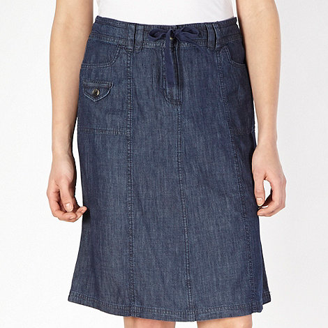 The Collection - Navy chambray skirt