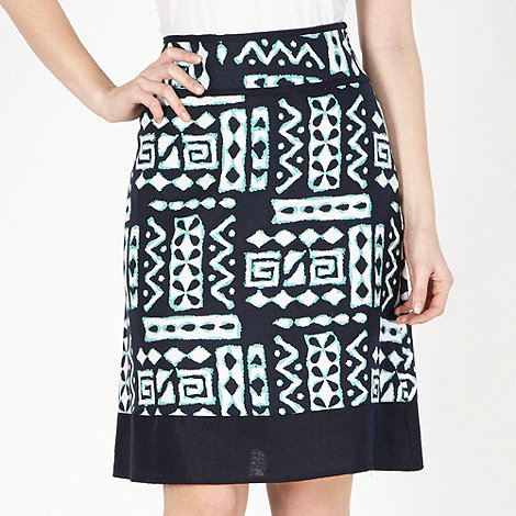 The Collection - Navy tribal woven skirt