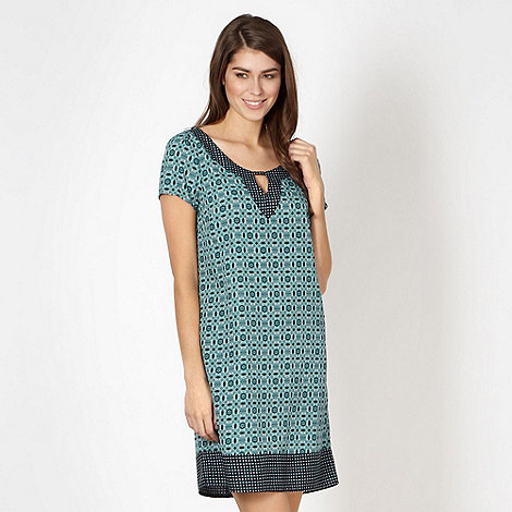 The Collection - Green tiled floral shift dress