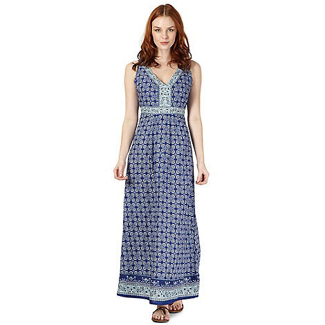 The Collection - Blue moroccan tile maxi dress