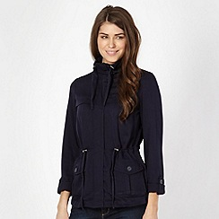 The Collection - Navy drawstring soft jacket