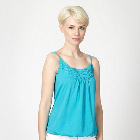 The Collection - Turquoise pleat trim bubble hem camisole