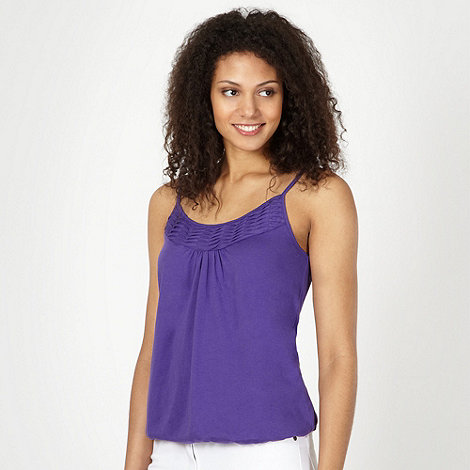 The Collection - Purple pleat trim camisole
