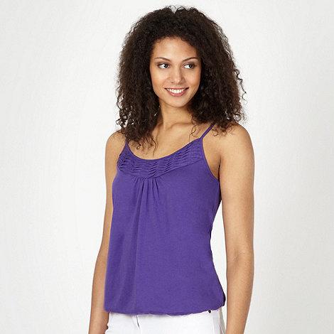 The Collection - Purple pleat trim camisole