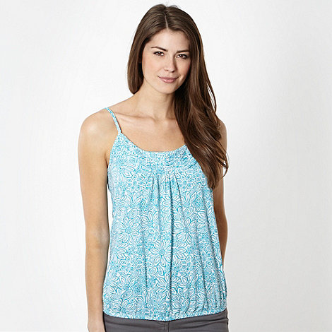 The Collection - Turquoise and white floral cami vest