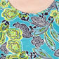 The Collection - Turquoise African floral bubble t-shirt Alternative 2