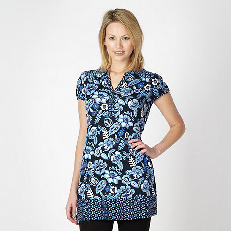The Collection - Turquoise floral print tunic