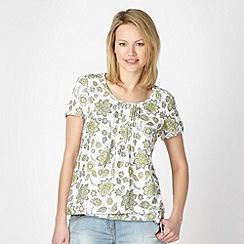 The Collection - Lime Zanzibar floral blouse