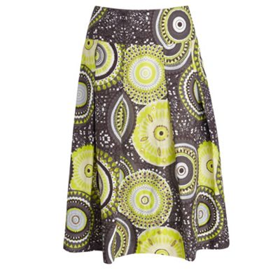 Lime barley cut skirt