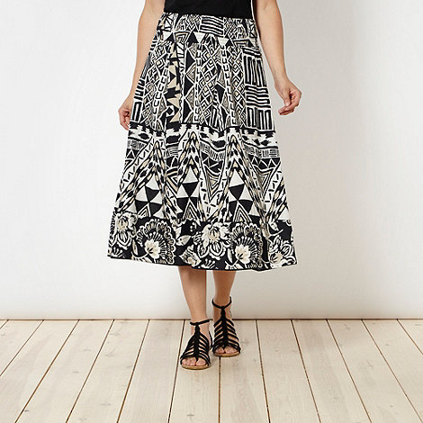The Collection - Black and white tribal print maxi skirt
