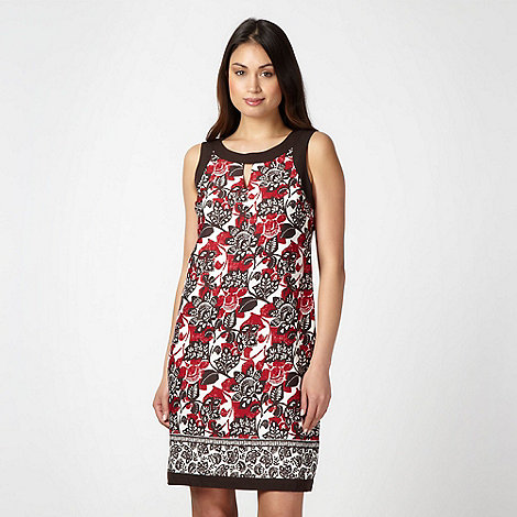 The Collection - Dark red floral print shift dress