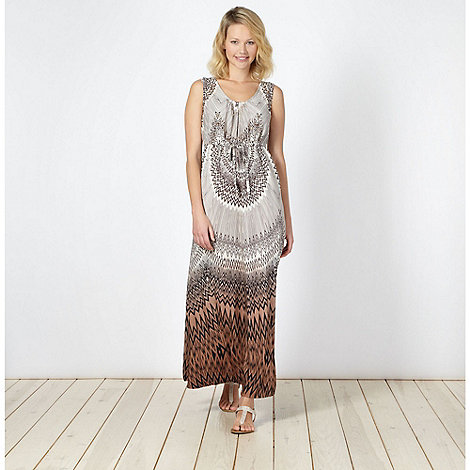 The Collection - Beige tribal ombre embellished maxi dress