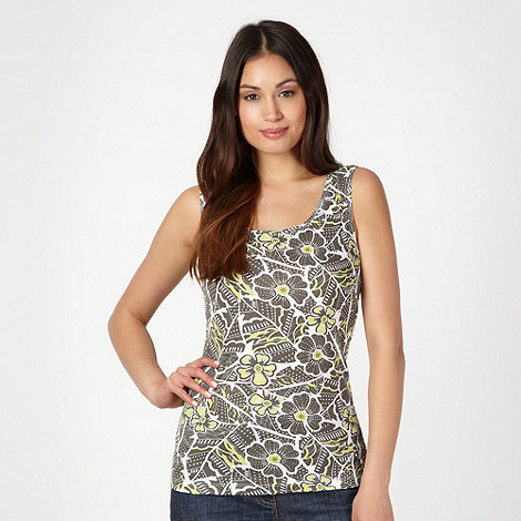 The Collection - Lime floral scoop neck vest