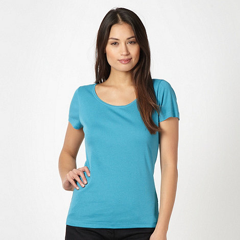 The Collection - Turquoise scoop neck t-shirt