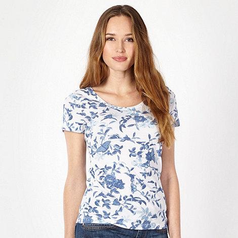 The Collection - Blue bonsai print t-shirt