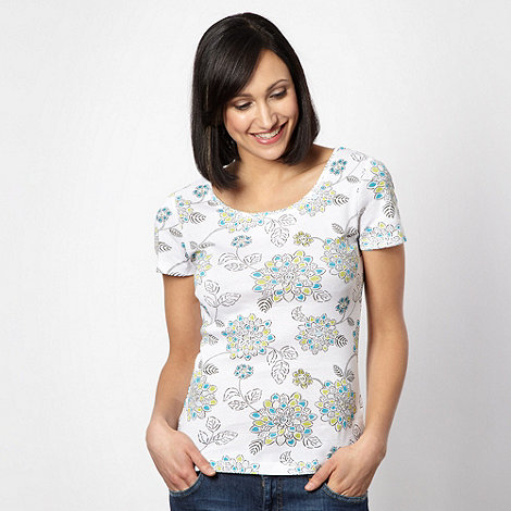 The Collection - Turquoise African lotus print t-shirt