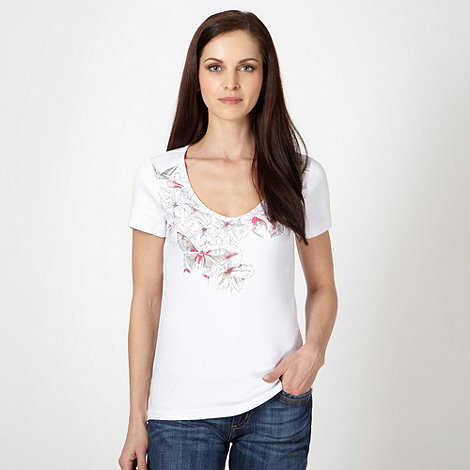 The Collection - White spotted butterfly top