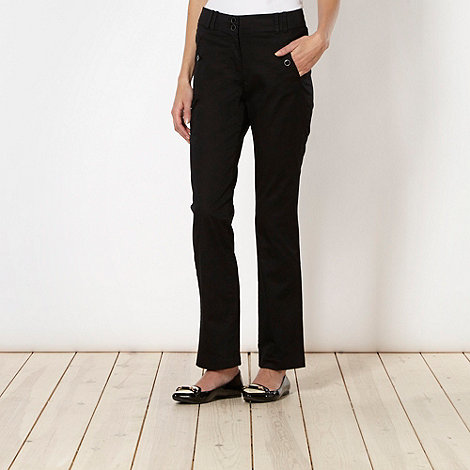 The Collection - Black chino regular casual trousers