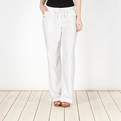 The Collection - White woven trousers