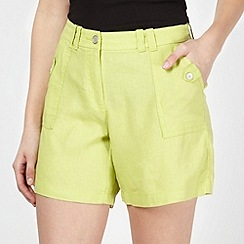The Collection - Lime linen blend shorts