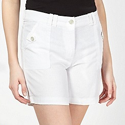 The Collection - White linen blend shorts