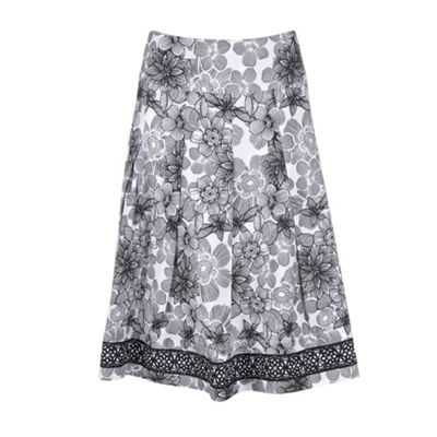 Collection Black linear floral skirt product image
